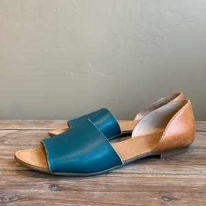 Latigo Anthropologie Blue & Brown Sandals Size 9.5